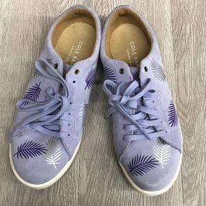 Cole Haan Custom Palms Lace Up Lilac Sneakers